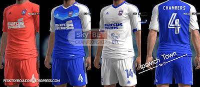 PES 2013 Ipswich Town, Barnsley, Derby Country kits 2016/17 by Syirojuddin