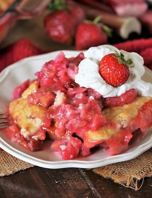 Fresh Strawberry Rhubarb Cobbler Image