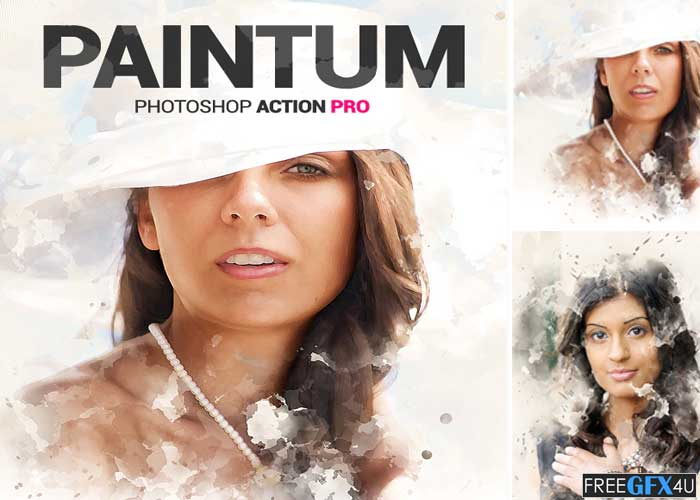 Mixed Painting Paintum Photoshop Action