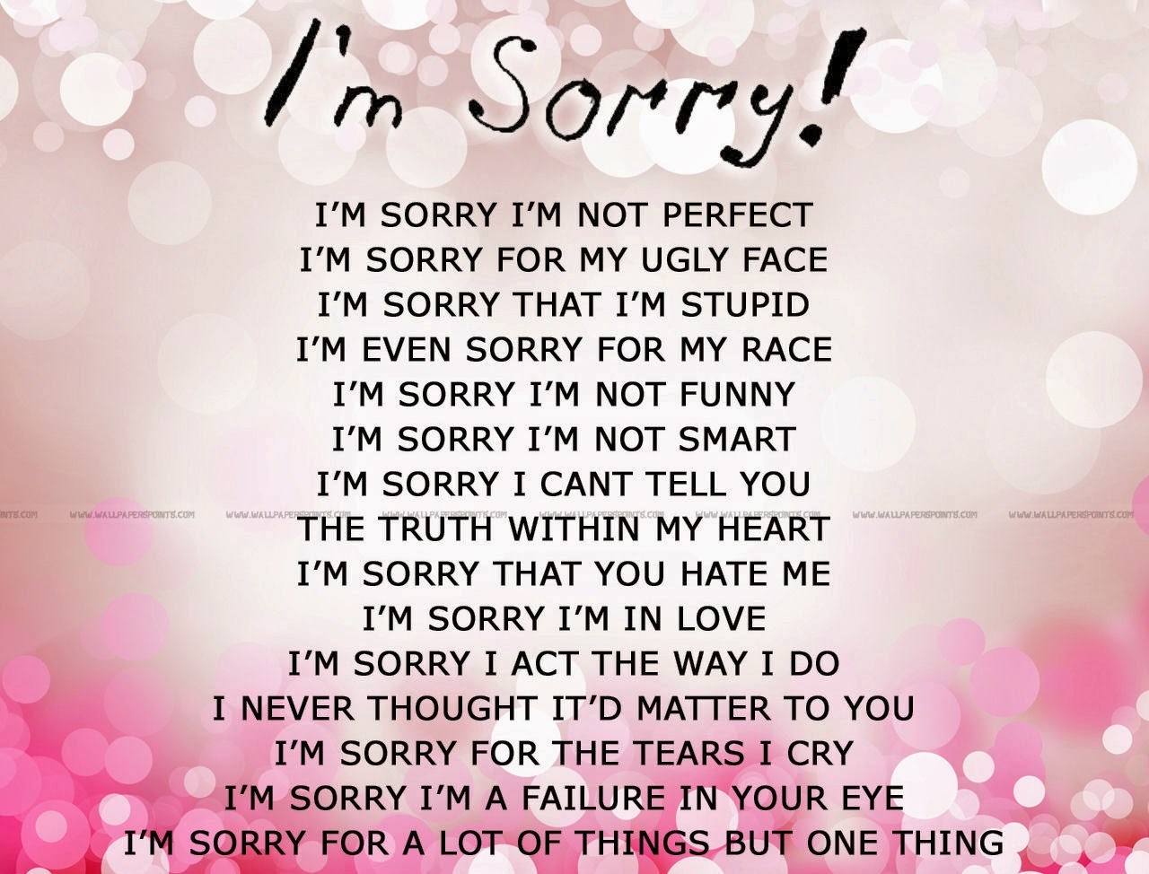 Im Sorry Quotes For Him From The Heart