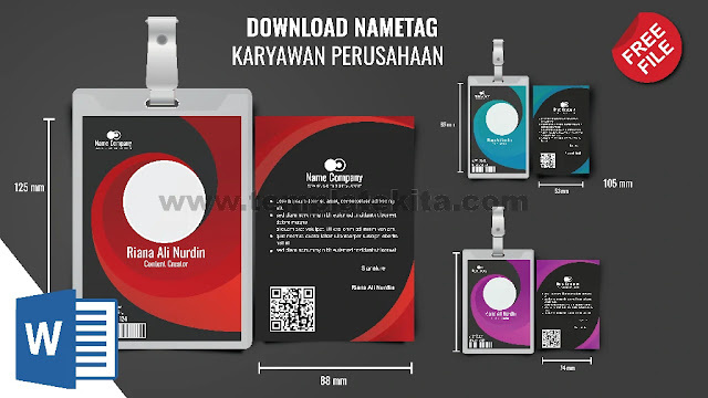 Download Template Format ID Card Karyawan Word 9