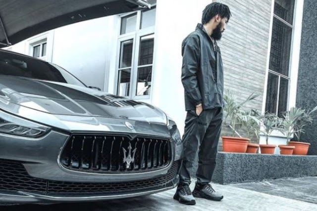 Phyno Stuns Fellow Celebrities With His Brand New Maserati. PHOTOS