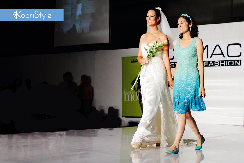 KooriStyle, Fashion, Runway, Dress, Lace, Flowers, FashionDesign, Design, Wedding, WeddingDress, Aqua, Mint, Green