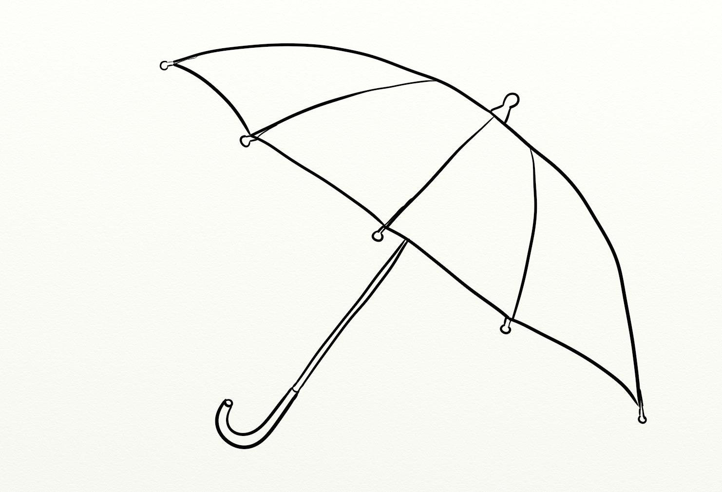 umbrella coloring drawing free wallpaper anggela coloring book for