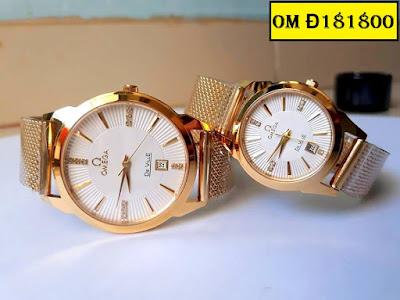 Đồng hồ đeo tay cặp đôi dây inox Omega OM Đ181800