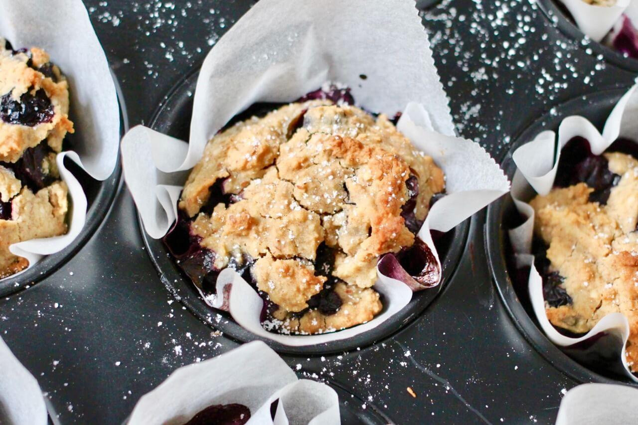 Rezept für vegane Blauberrmuffins