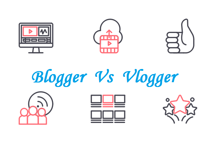 Difference between Blogging and Vlogging