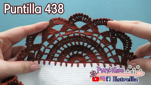 Puntilla o Terminación Circular Para Manteles a Crochet