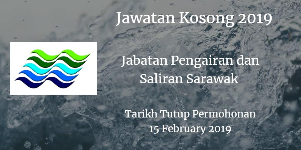 Jawatan Kosong Jabatan Pengairan dan Saliran Sarawak 15 February 2019