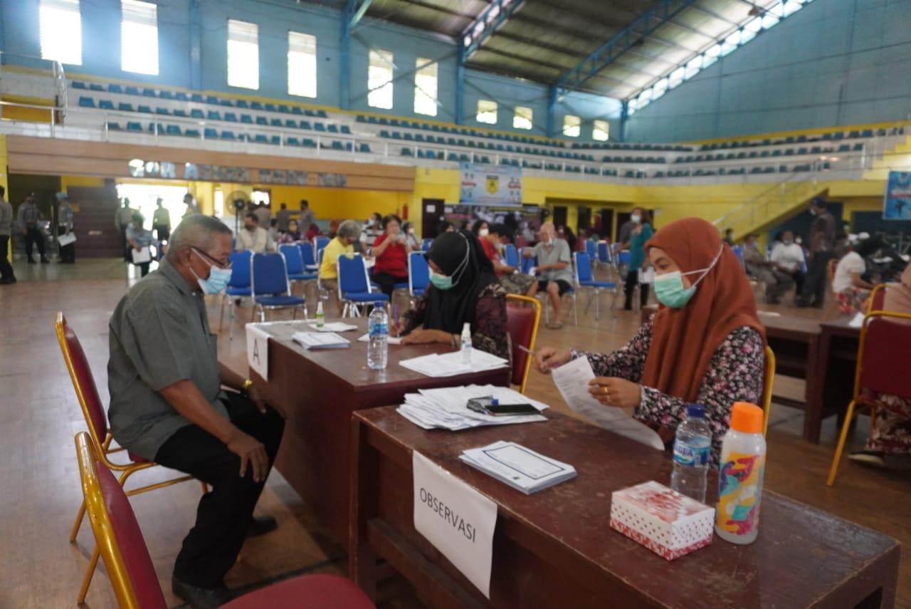 Polres Tebingtinggi Gelar Vaksinasi Massal Dalam Rangka HUT Bhayangkara ke 75