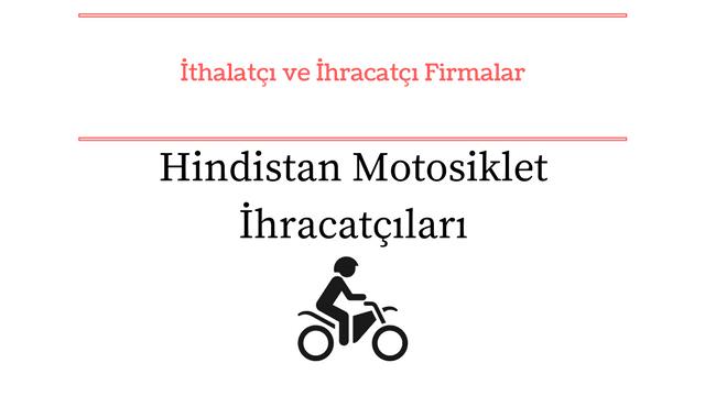 Hindistan'ın başlıca motosiklet ihracatçıları