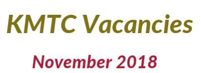 Vacancies KMTC 2018