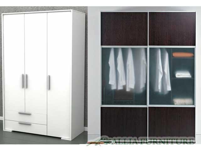 Desain lemari pakaian minimalis modern