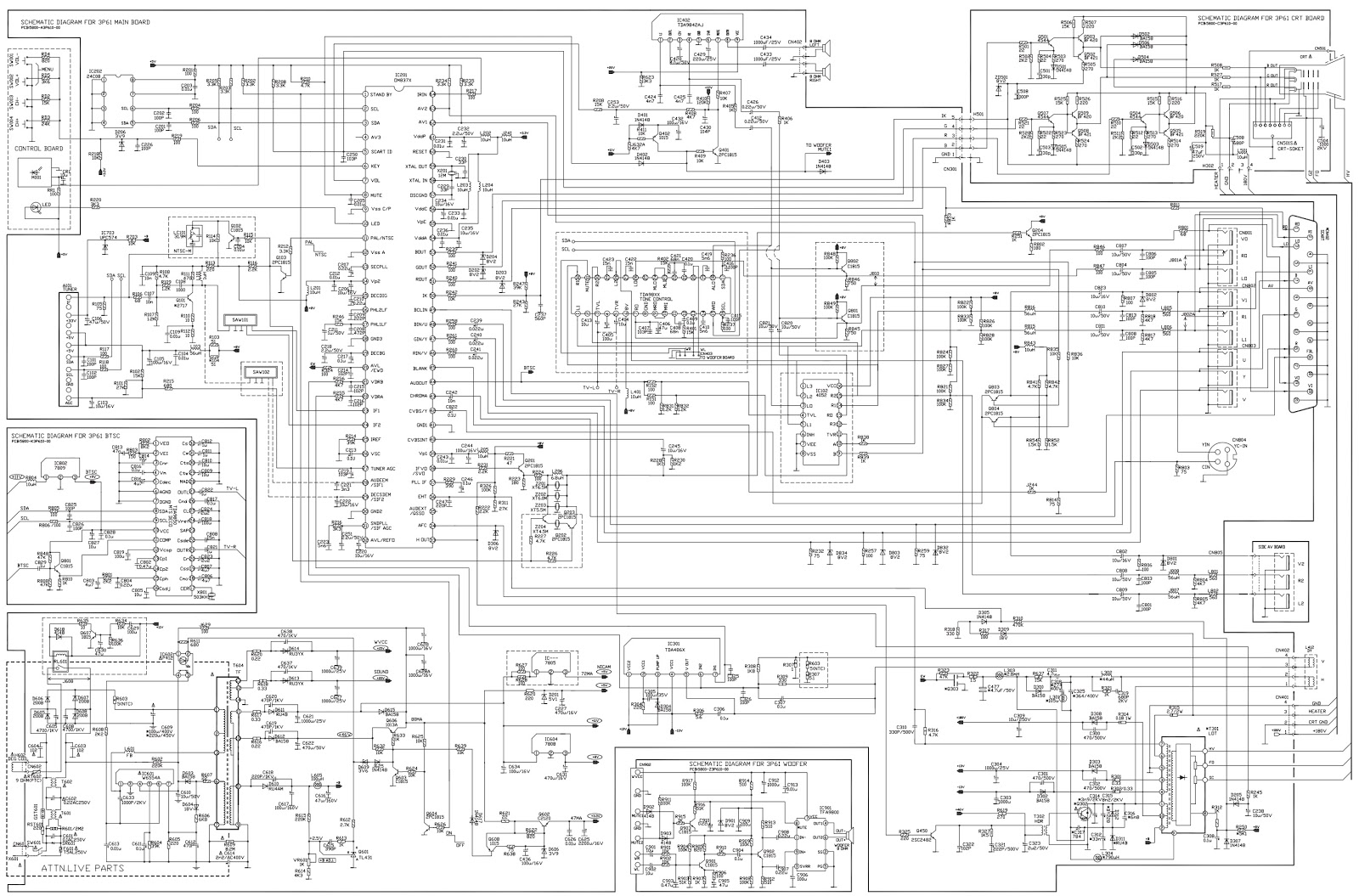 jvc samsung crt tv schematic diagram circuit and wiring diagram schematic diagram for samsing slim crt [ 1600 x 1055 Pixel ]