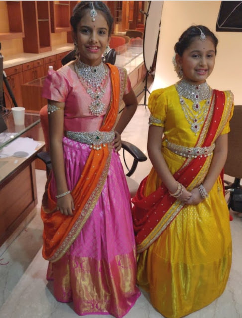 Small Girls in Tibaruaml Jewellery