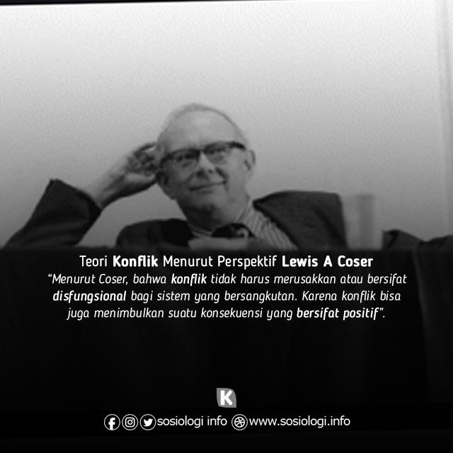 Teori konflik menurut Lewis Coser