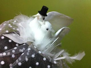 gelin damat güvercin nikah şapkası vualet