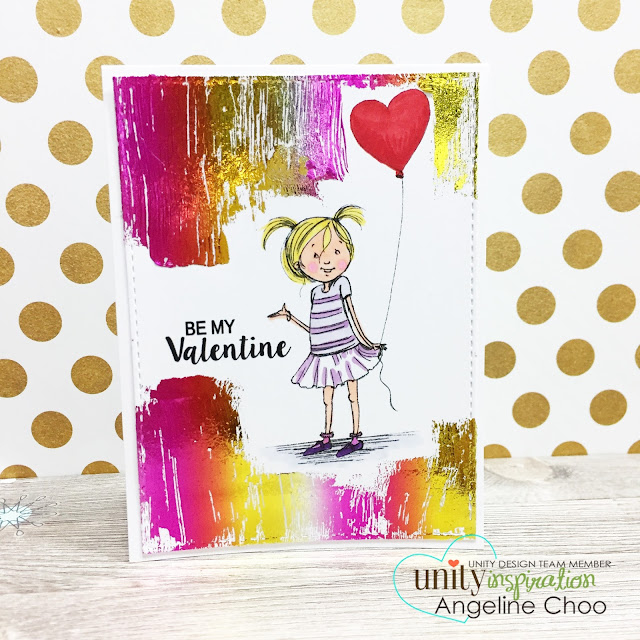 ScrappyScrappy: Valentine Unicorn and Glitter with Unity Stamp #scrappyscrappy #unitystampco #phyllisharris #valentine #thermoweb #decofoil #foil #card #cardmaking #papercraft #craft #handmadecards #quicktipvideo #video #youtube
