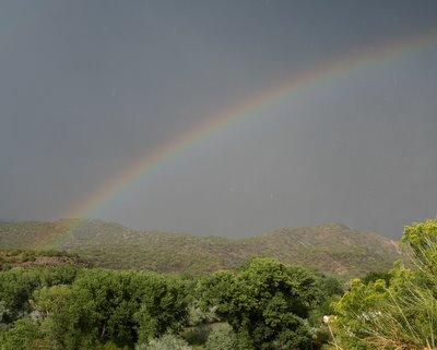 Rainbow over the Rio Grande in New Mexico