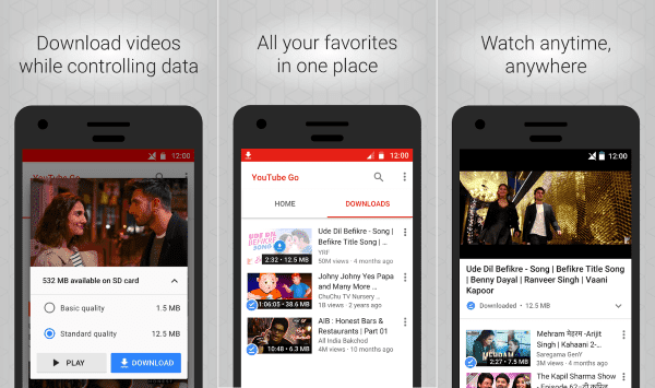 YouTube Go 1 01 62 Latest for Android 4 1+