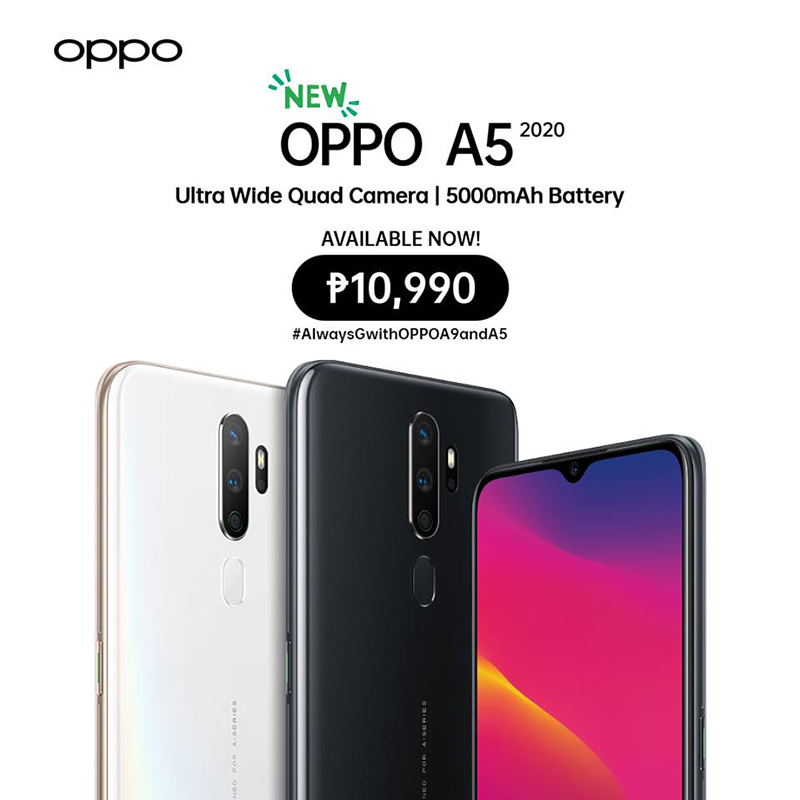 OPPO A5 2020 released in PH, SD665, 5,000mAh, and quad-cam for PHP 10,990!