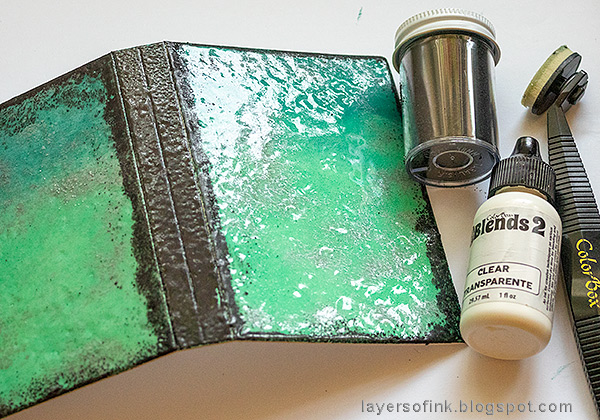 Layers of ink - Heat Embossed Notebook Journal by Anna-Karin.