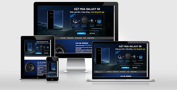 Template blogspot landing page Introducing Samsung S8, S8 +