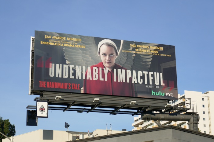 Handmaids Tale season 3 SAG Award billboard