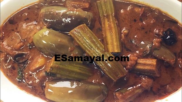 கத்தரிக்காய் – முருங்கைக்காய் பச்சடி செய்வது | Eggplant - Drumstick Pachadi !
