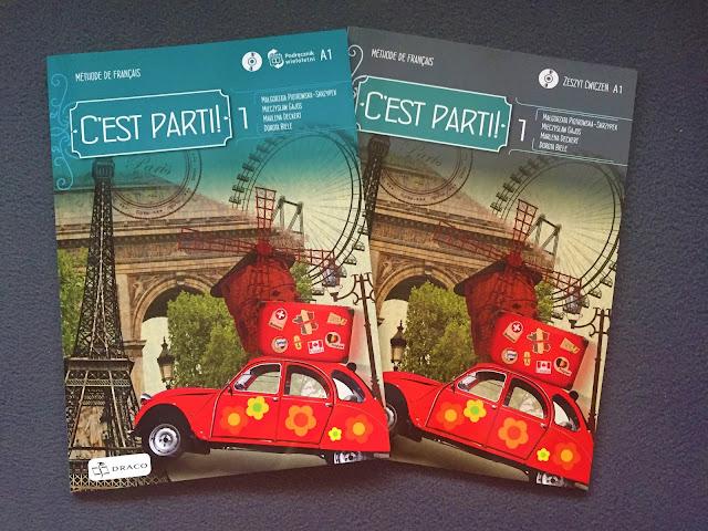 """Recenzje #153 - """"C'est parti ! 1"""" - okładka podręcznika oraz zeszytu ćwiczeń - Francuski przy kawie"""