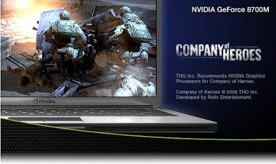 Nvidia GeForce 8700M GT(ノートブック)ドライバーのダウンロード
