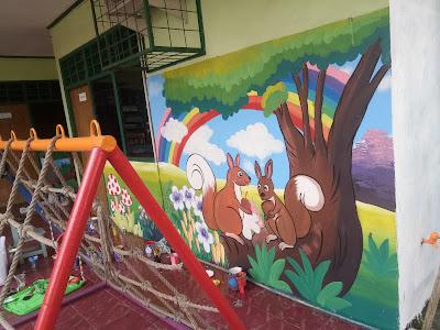 lukis dinding sekolah TK
