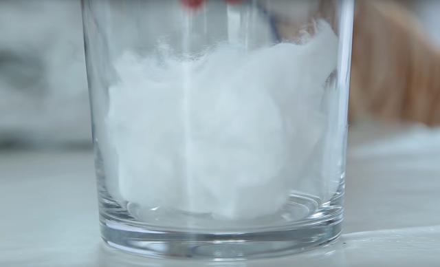 vaso, algodon