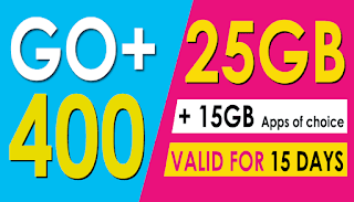 Globe Go+400 – 40GB Data Valid up to 15 Days for only 400 Pesos