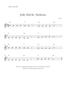 Jolly Old St. Nicholas alto saxophone sheet music