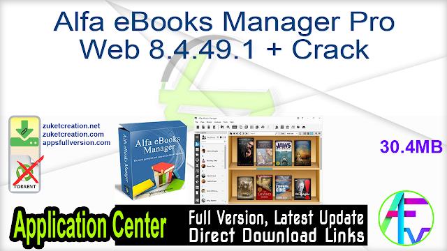 Alfa eBooks Manager Pro Web 8.4.49.1 + Crack