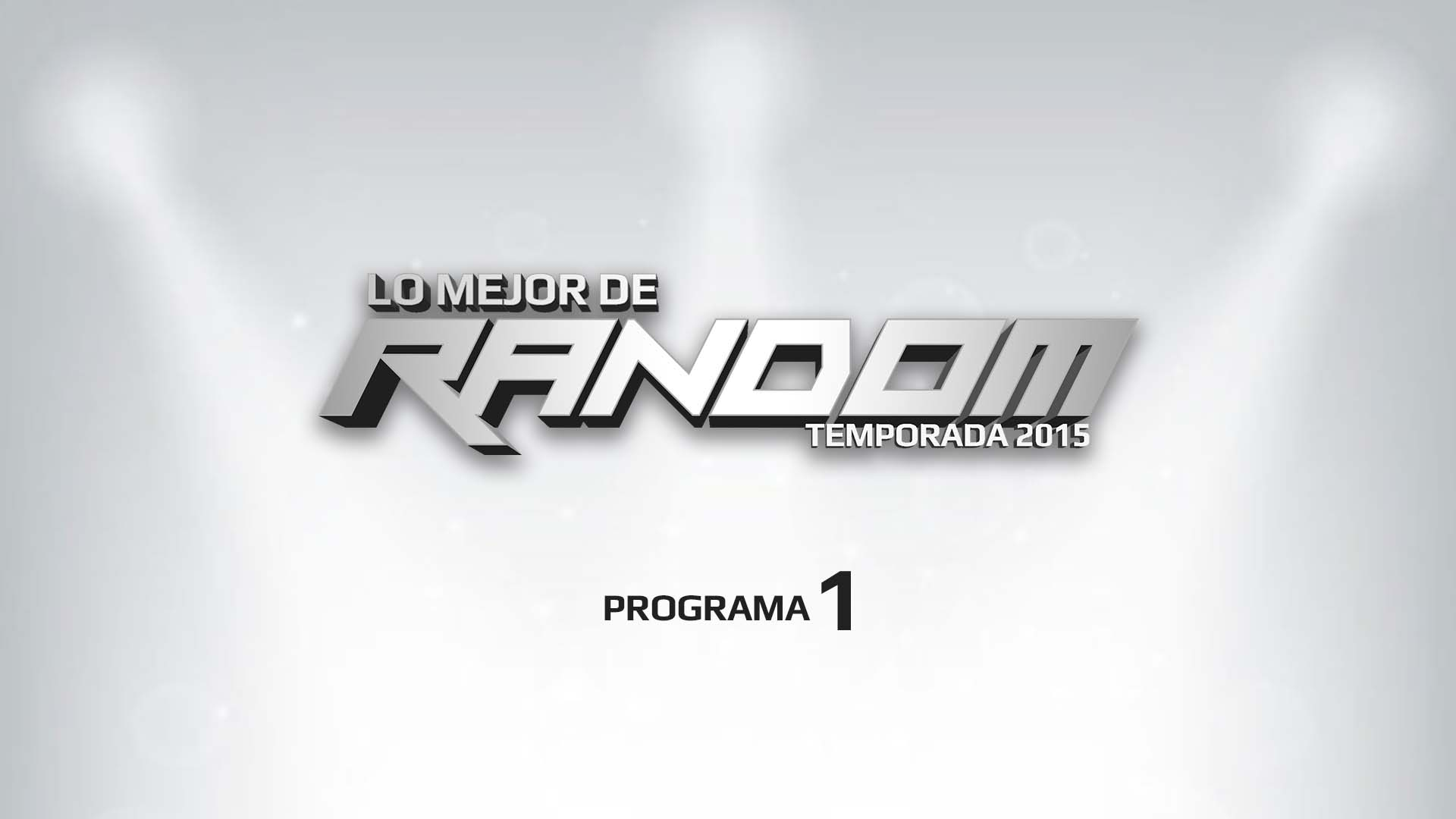 """Primer programa de """"Lo Mejor de Random"""""""