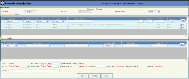 hospitality management system,internship in delhi,medical