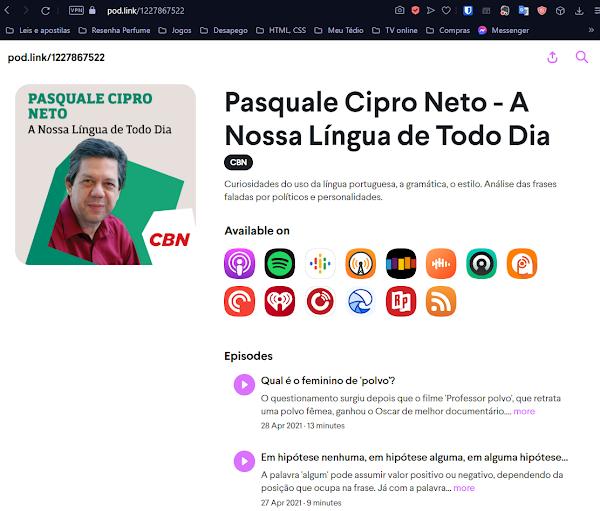 pod link do Pasquale Cipro Neto
