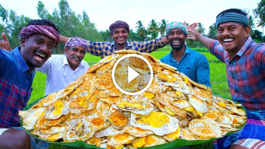 1000 FULL BOILED EGGS | Egg Omelette Recipe Cooking with South Indian Village Style | Egg Recipes