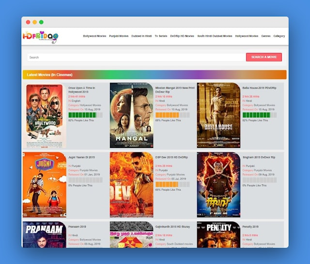 Hdfriday 2019-Download Bollywood, Punjabi, Hollywood Movies Free!