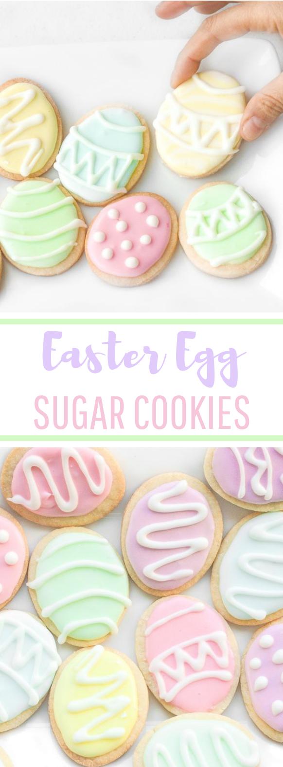 Easter Egg Sugar Cookies #cookies #easydessert