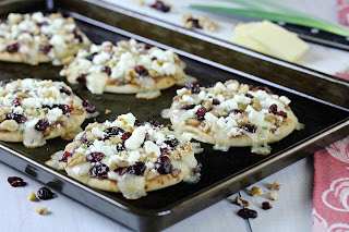 Apple Chutney and Cranberry Mini Naan Pizzas