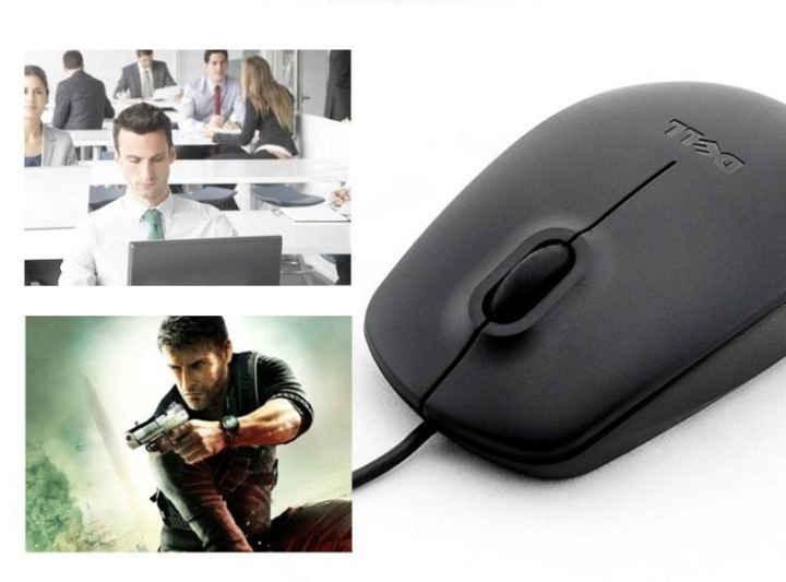 20k - Chuột có dây Dell MS111 đen giá sỉ và lẻ rẻ nhất