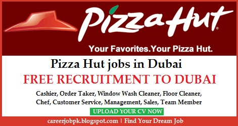Pizza Hut jobs in Dubai UAE