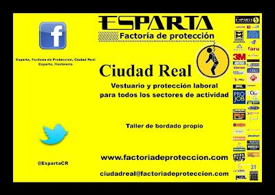 cartel de esparta factoría de protección ciudad real