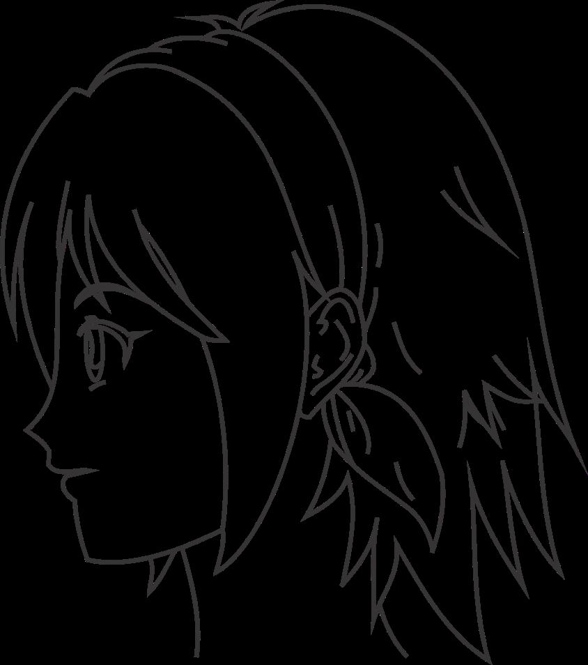 Wajah anime tampak samping
