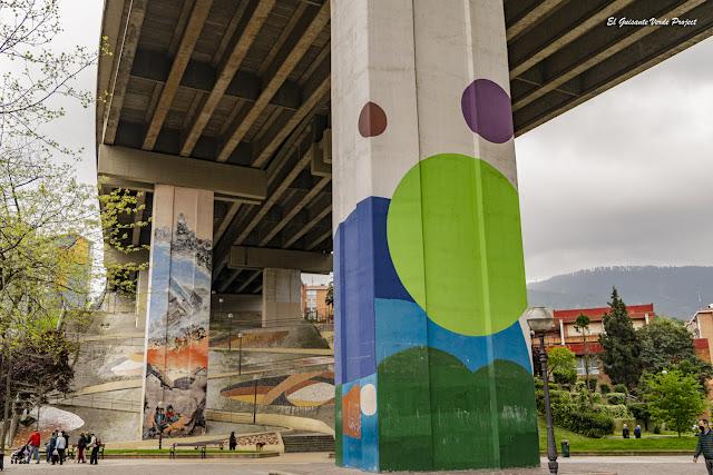 Mural de la Plaza Rekalde - Bilbao, por El Guisante Verde Project