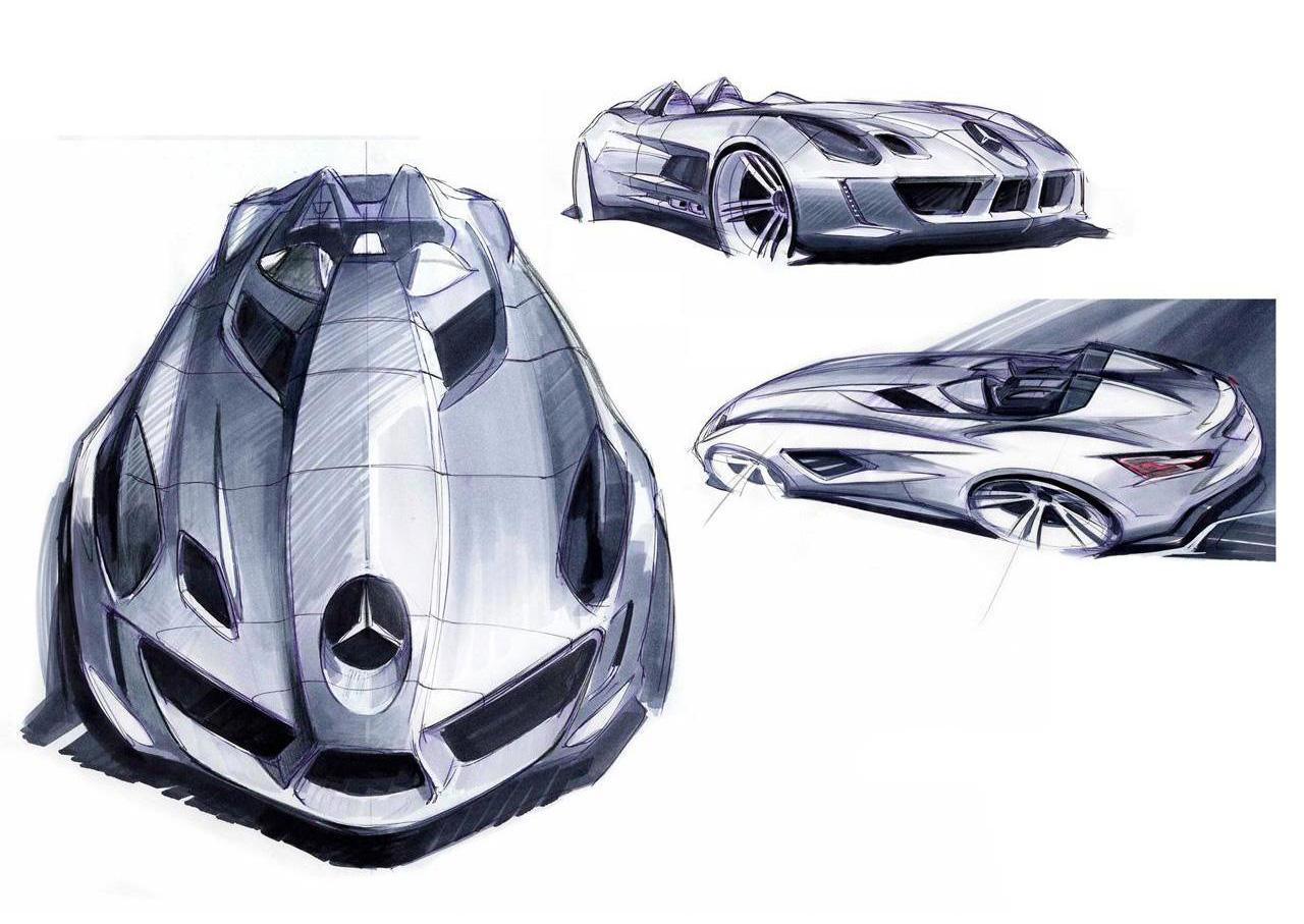 Sketsa Mobil Mercedes SLR Mclaren Stirling Moss 2009