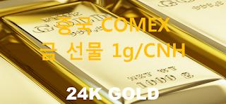 오늘 중국 금 선물 시세 : 24K 순금 1 그람 (1g) 인민폐 위안 (CNH) 시세 실시간 그래프 (1g/CNH 위안, CME COMEX:SGC Shanghai Gold (CNH) Futures)